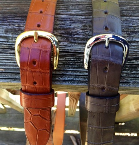 Hill Country Leather - exotic leather belt 1
