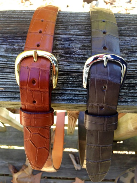 Exotic Leather Belt Hill Country Leather 512 550 0593