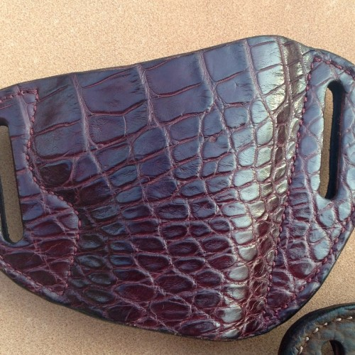 Hill Country Leather - alligator exotic leather bikini holster 2