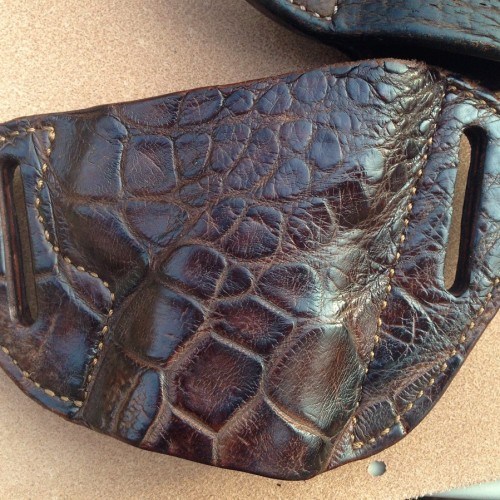Hill Country Leather - alligator exotic leather bikini holster 1