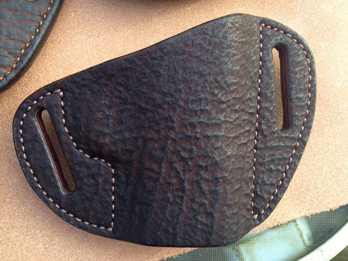 Hill Country Leather - rhino bikini exotic leather holster 1