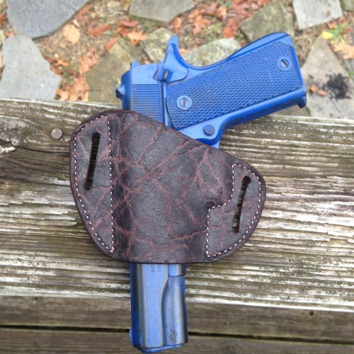 Hill Country Leather - elephant exotic leather bikini holster 1