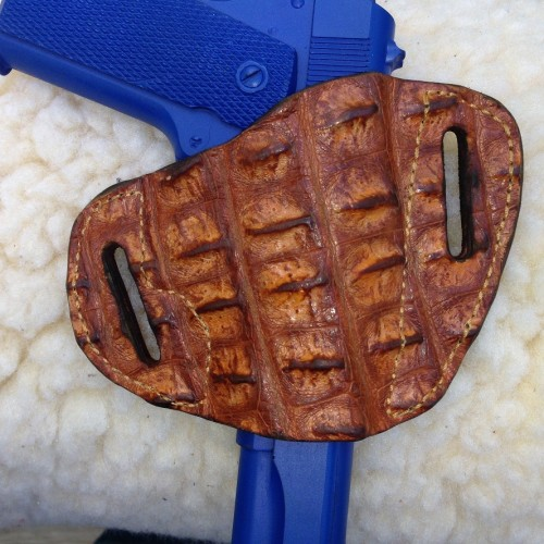 Hill Country Leather - hornback exotic leather bikini holster 3