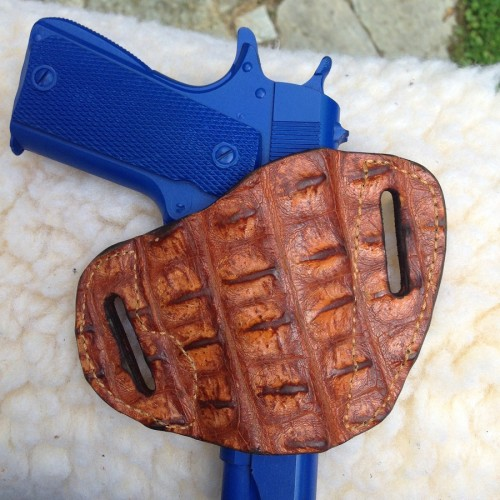 Hill Country Leather - hornback exotic leather bikini holster 2