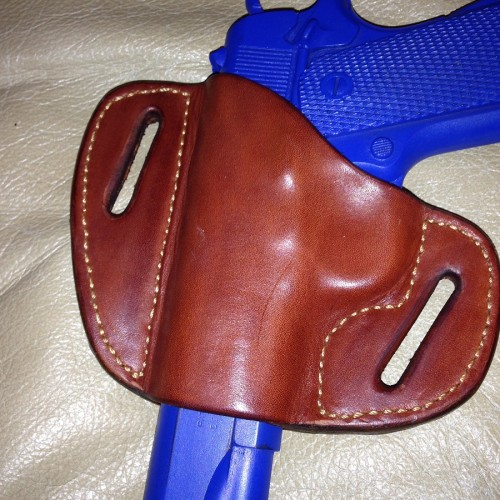 Hill Country Leather - hornback exotic leather bikini holster back