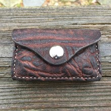 Hill Country Leather - elephant exotic leather bullet pouch front