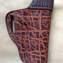 Hill Country Leather - exotic leather half pancake holster 1