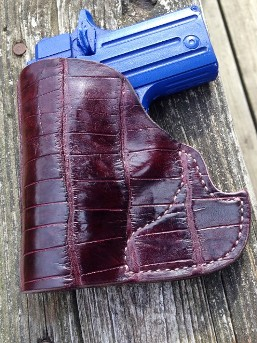 Hill Country Leather - exotic leather pocket holster 3