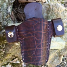 Hill Country Leather - elephant exotic leather side snap holster
