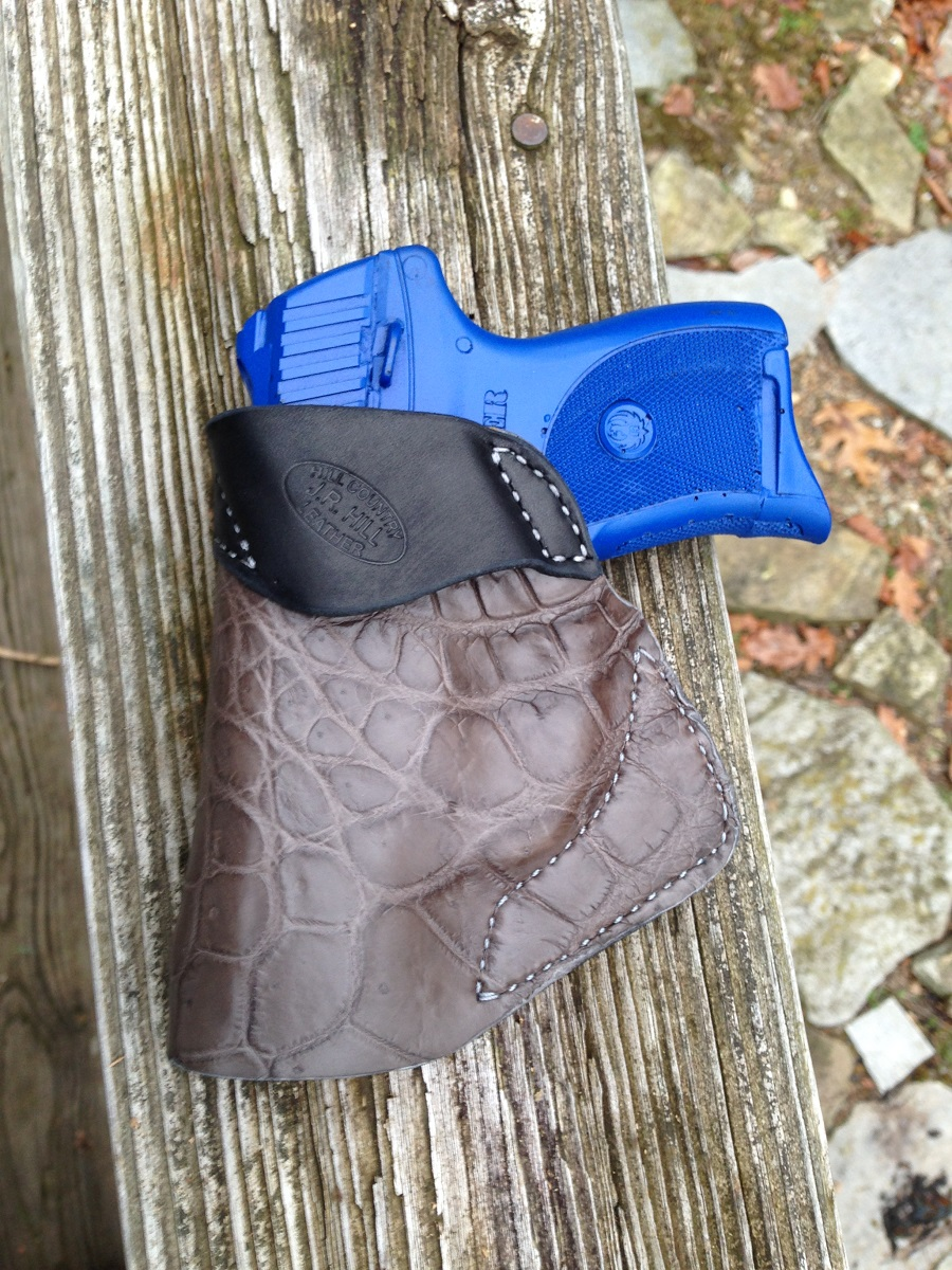 Hill Country Leather - alligator small of back exotic leather holster 5