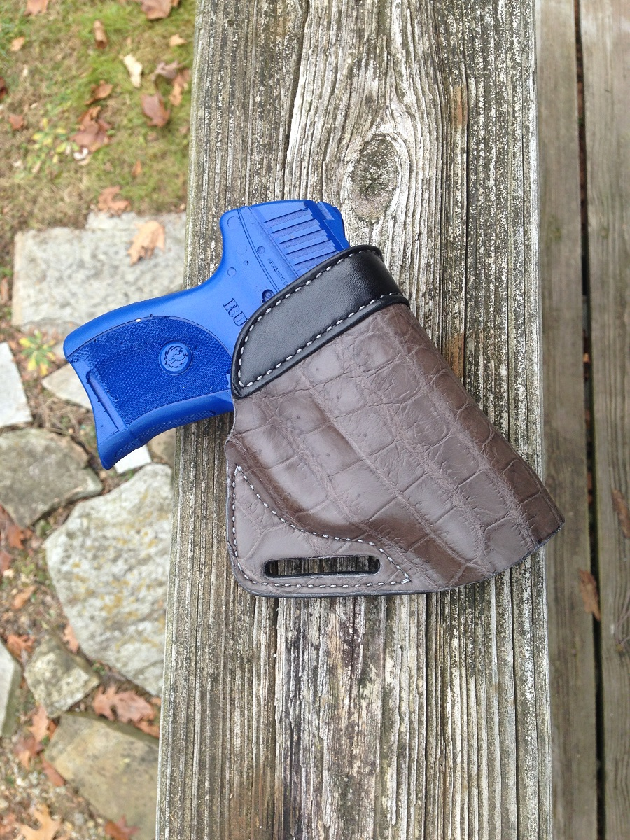 Hill Country Leather - alligator small of back exotic leather holster 4