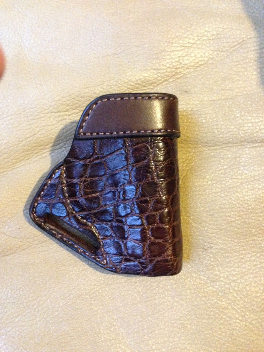 Hill Country Leather - alligator small of back exotic leather holster 3