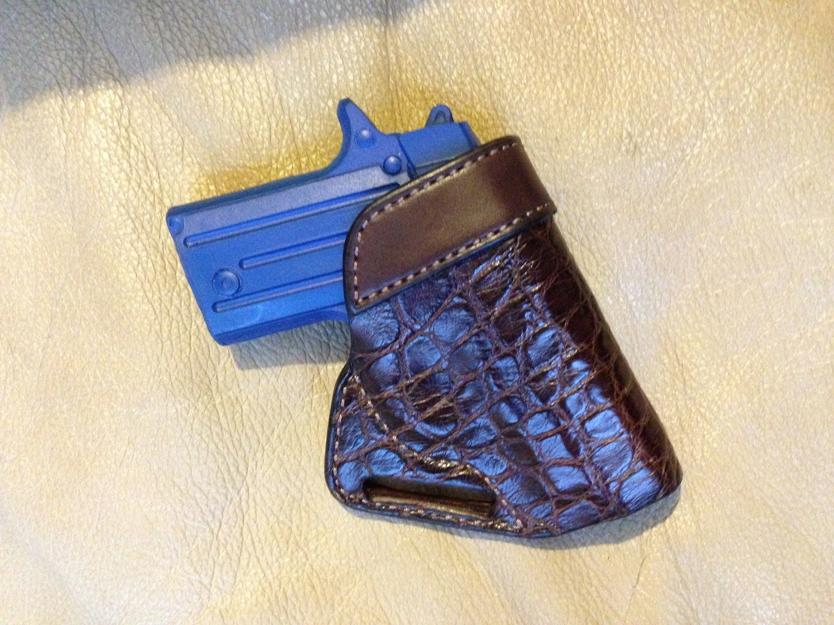Small Of Back Exotic Leather Holster - Hill Country Leather - 512