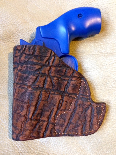 Hill Country Leather - exotic leather pocket holster 2