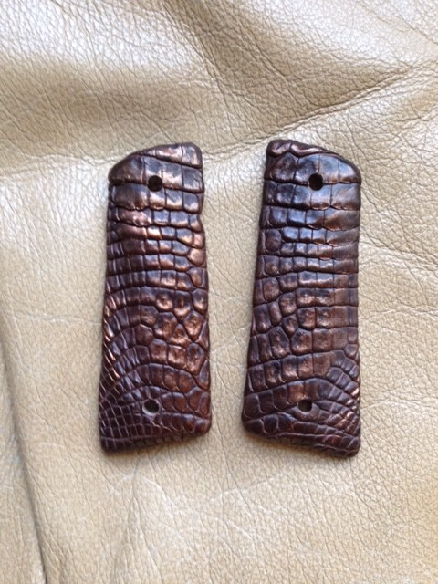 Exotic Leather 1911 Grips - Hill Country Leather - 512-550-0593