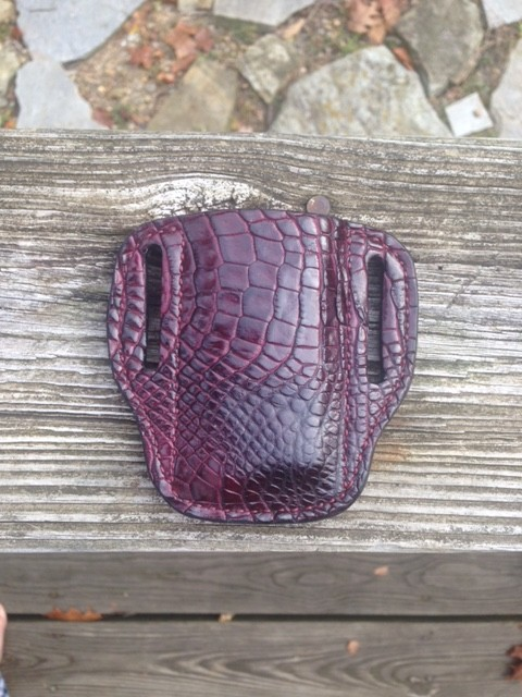Exotic Leather Magazine Pouch Hill Country Leather 512